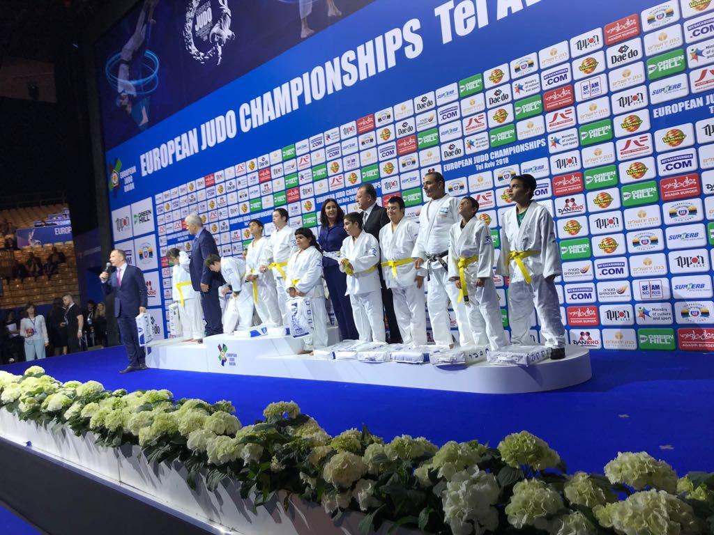 """חניכי ביה""""ס לג'ודו פתחו את אליפות אירופה בג'ודו"""